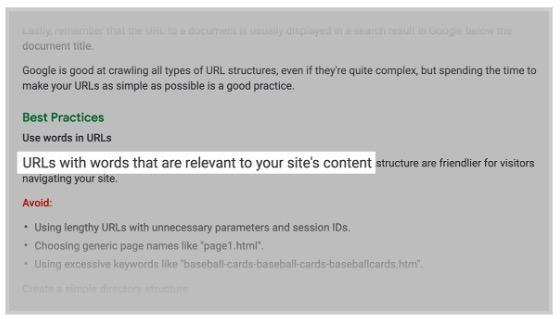 Google arama terimlerinin URL'de geçirilmesi gerektiğini önermektedir.